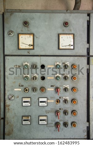 Old control panel - stock photo