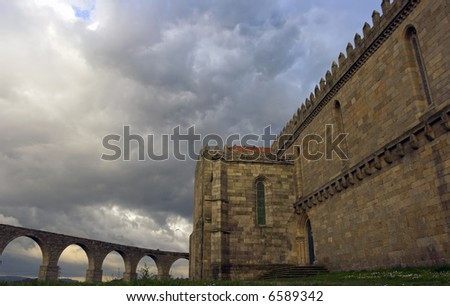 Old convent and aqueduct of Vila do Conde (North of Portugal)