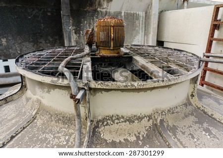 Old cooling tower of Building system - stock photo