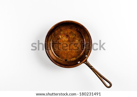 Old copper pan