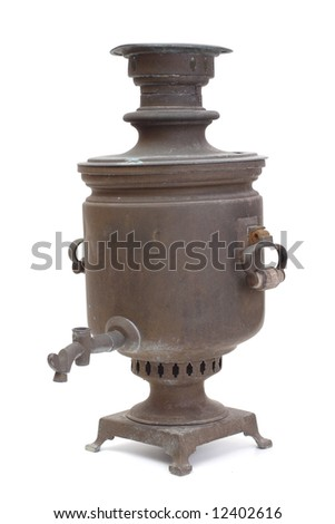 Old copper samovar without the crane