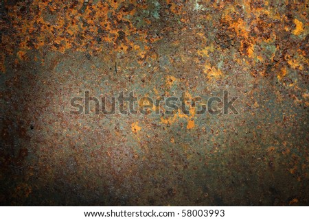 Old corroded metal background - stock photo
