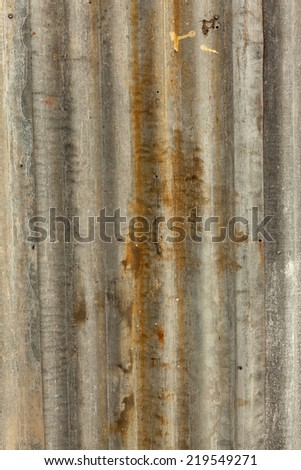 old corrugated roof texture - stock photo