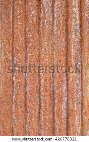 old corrugated rusty for background - stock photo