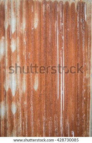 old corrugated rusty for design texture background - stock photo