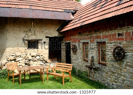 old cottage - stock photo