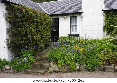 Old cottage with a garden.
