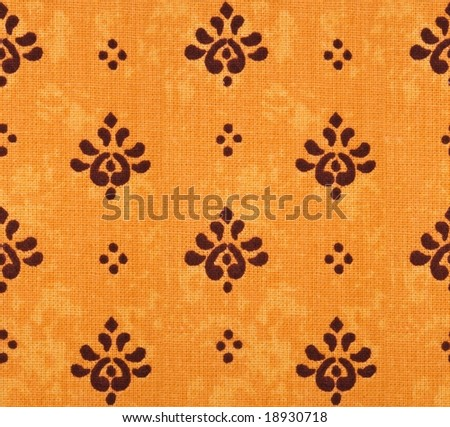 Old cotton seamless wallpaper - stock photo