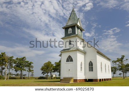 Old Country Church - stock photo