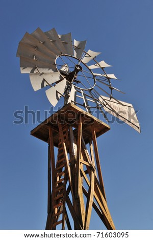 Old country style wind mill.
