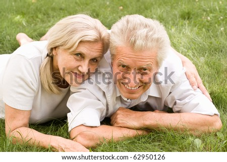 old couple in a summer park