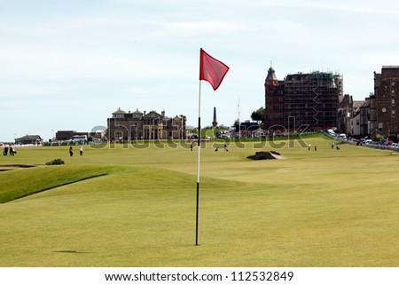 old courses/golf field/ - stock photo
