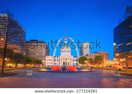 Old Courthouse in downtown St. Louis. - stock photo