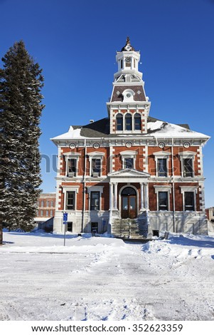 Old courthouse in Macomb,  McDonough County, Illinois, United States - stock photo