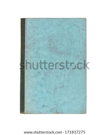 Old cover of book on a white background - stock photo