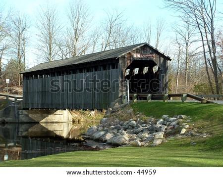 Old Covered Bridge - stock photo