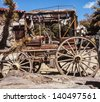 old covered wagon - stock photo