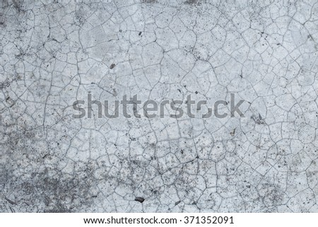 old crack concrete or cement wall background with texture