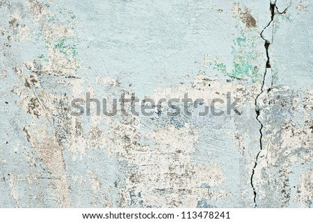 old cracked paint concrete wall texture background - stock photo