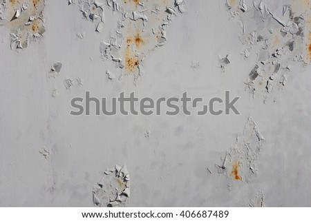 Old cracked paint on a steel plate.  - stock photo