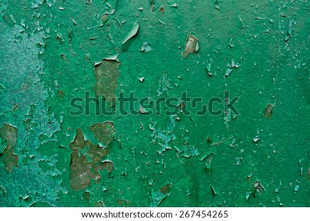 Old cracked paint on Metal Grunge Background. - stock photo