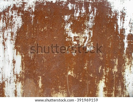 Old cracked paint on the wall. Grunge rusty texture. Grunge metal background. Retro texture. Vintage texture. Peeling paint. Distress Texture. Scratched wall pattern - stock photo