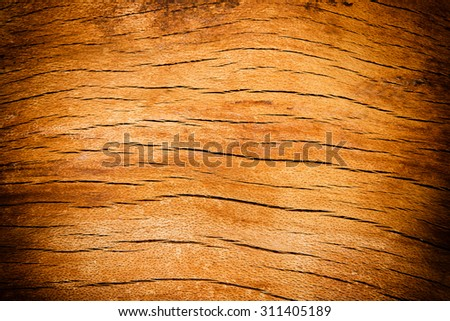 Old cracked wooden desk texture for backgrounds - stock photo