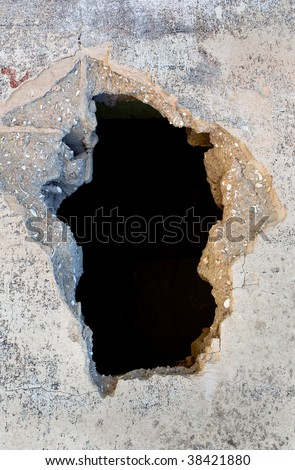 Old cracks in the paint the background - stock photo