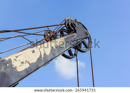 old crane and out of service - stock photo