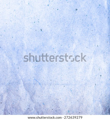 Old creased blue paper texture. Paper background  - stock photo