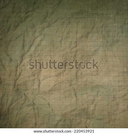 old crumpled graph paper texture or background  - stock photo