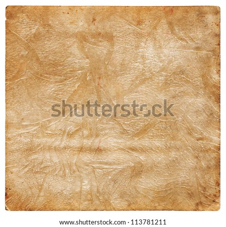 Old crumpled leather - stock photo