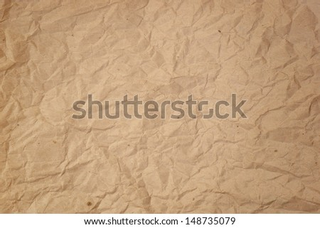 Old crumpled paper isolated on white.