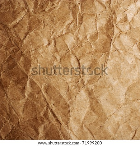 Old crumpled paper of close-up - stock photo