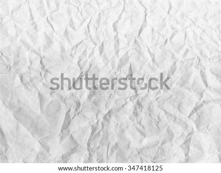 Old crumpled paper texture background - stock photo