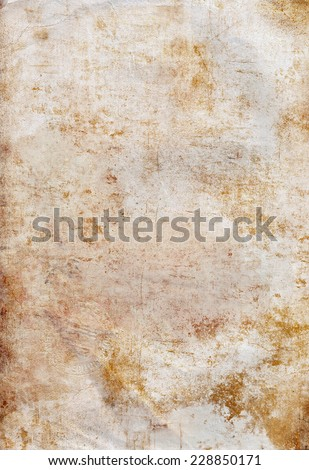 Old damaged antique ancient  blank paper background - stock photo