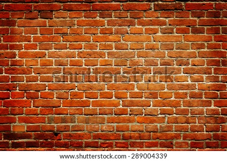 Old damaged brick wall - high quality texture. - stock photo