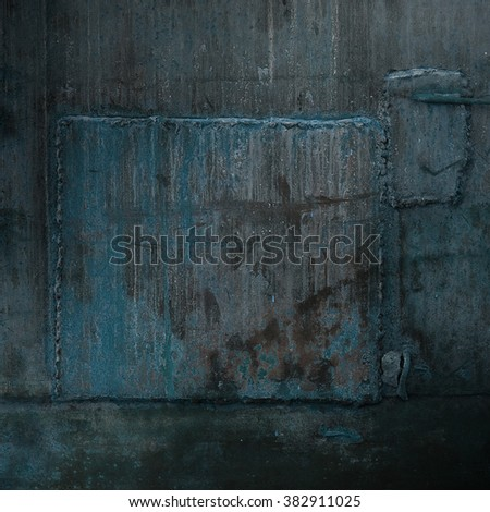 Old damaged metal construction surface - stock photo