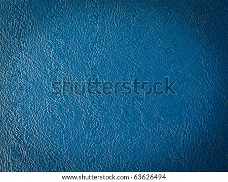 Old dark blue leather texture - stock photo