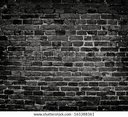 Old Dark Brick Wall Texture Background
