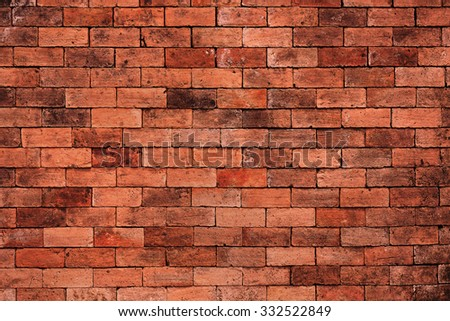old dark brown and red brick wall background