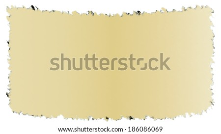 Old dark edged paper as papyrus isolated on a white background - stock photo