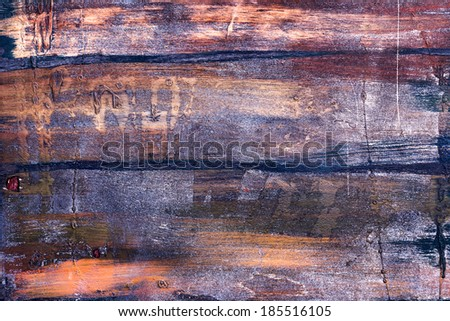 Old dark wood texture with natural exotic pattern as background
