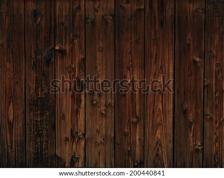 Old dark wood wooden wall texture background - stock photo