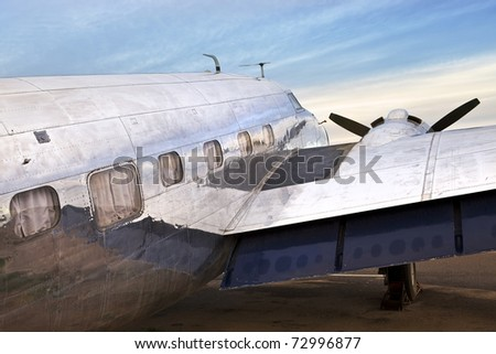 Old DC3 Airplane - stock photo