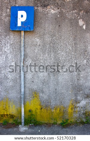 Old decaying parking - stock photo