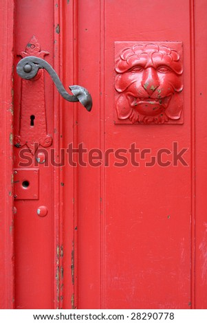 Old decorative doors - stock photo