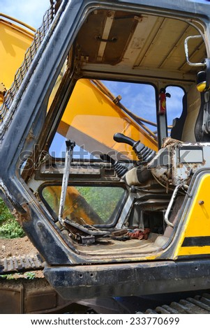 old demolition machine closeup - stock photo