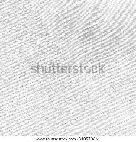 old denim fabric texture white background - stock photo