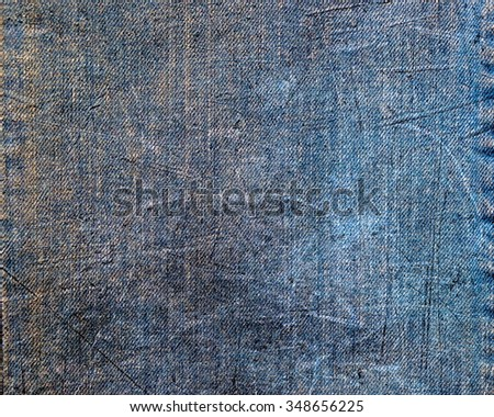 Old denim jeans texture